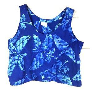 4cf4e22a Blue Ginger Hawaiian crop top L